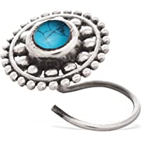 PeenZone 92.5 sterling silver turquoise nose pin for women