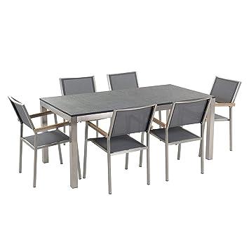Jardín mesa y sillas - juego de comedor 6 plazas - sola placa ...