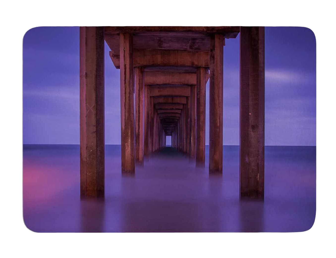 24 X 36 24 by 36-Inch Kess InHouse Juan Paolo Scripps Pier Pink Purple Memory Foam Bath Mat