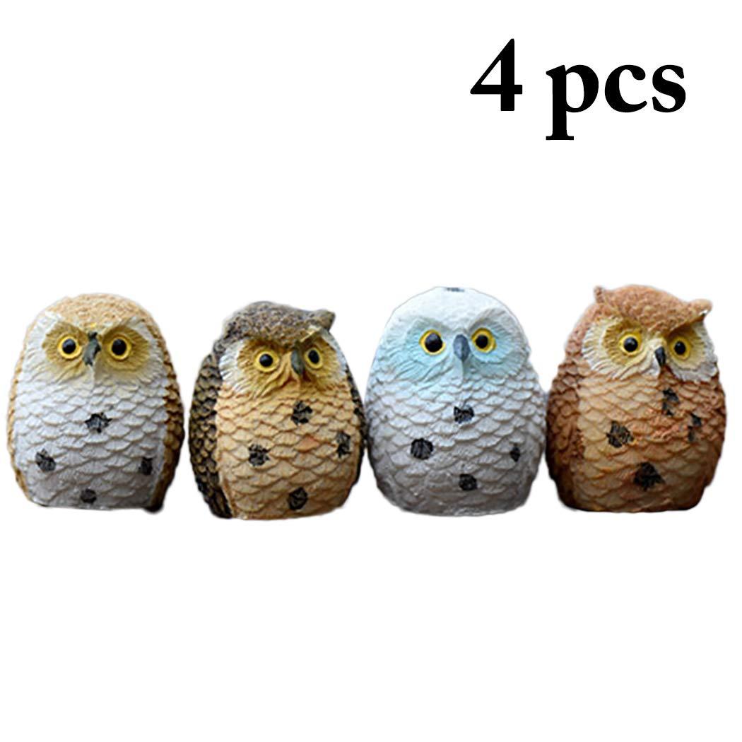 JUSTDOLIFE 4PCS Ornamento del Desktop Ornamento in Resina Gufo Ornamento da Scrivania per Arredamento