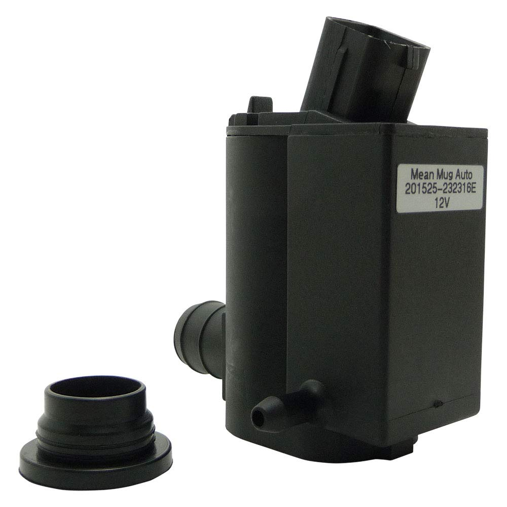 Mean Mug Auto 201525-232316E Windshield Washer Pump w/Grommet - For: Hyundai, Kia - Replaces OEM #: 98510-1C100, 98510-26100, 98510-1W000, 98510-2K000
