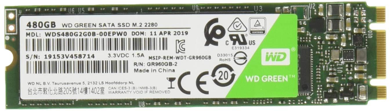 WD Green 480 GB Internal SSD M.2 SATA, Green-Performance