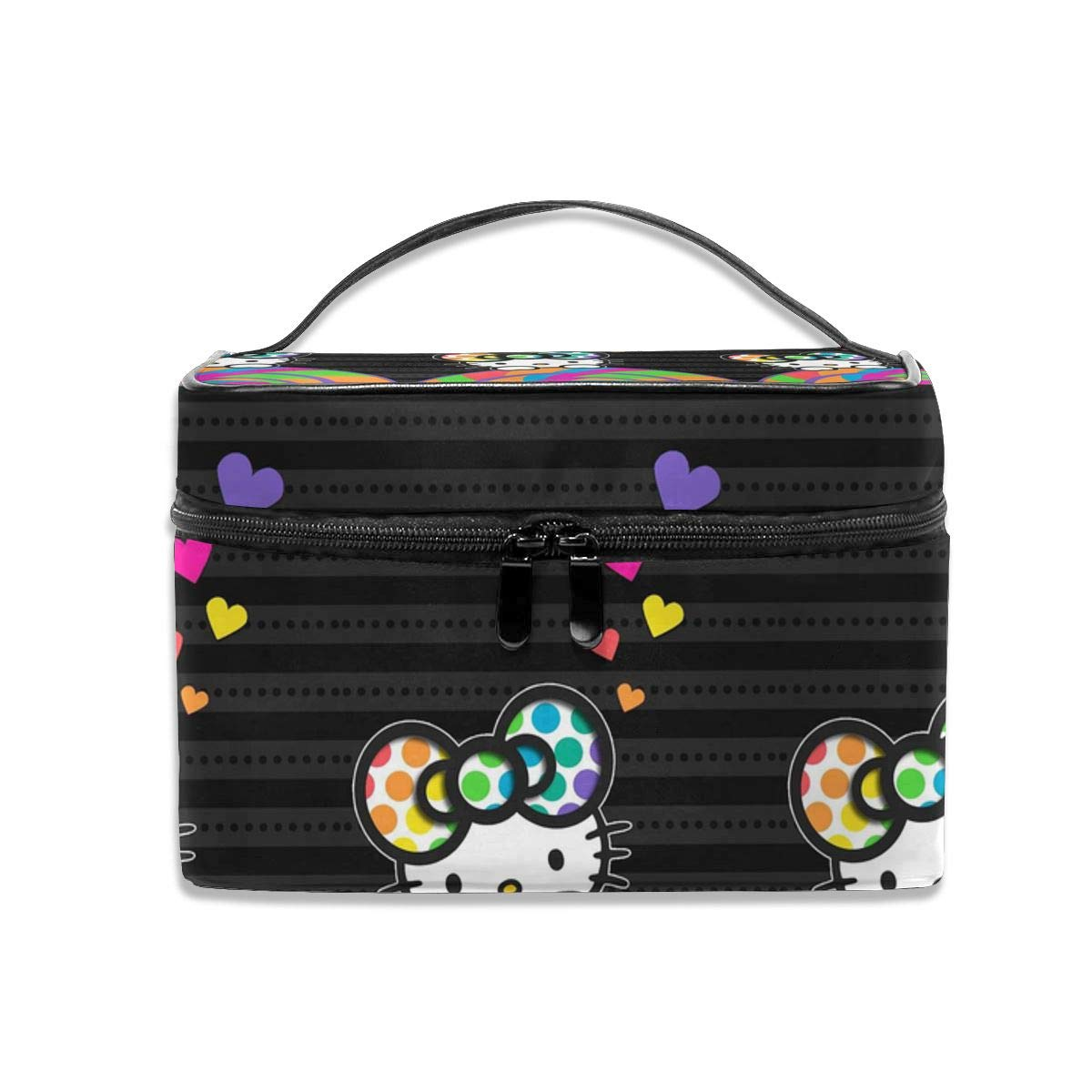 Cosmetic Bag Colorful Hello Kitty Portable Travel Makeup Bag Cosmetics Organizer Multifunction Toiletry Bags Storage Case