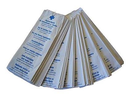 100 pcs bolsas higiénicas, bolsas de papel de compresas y ...