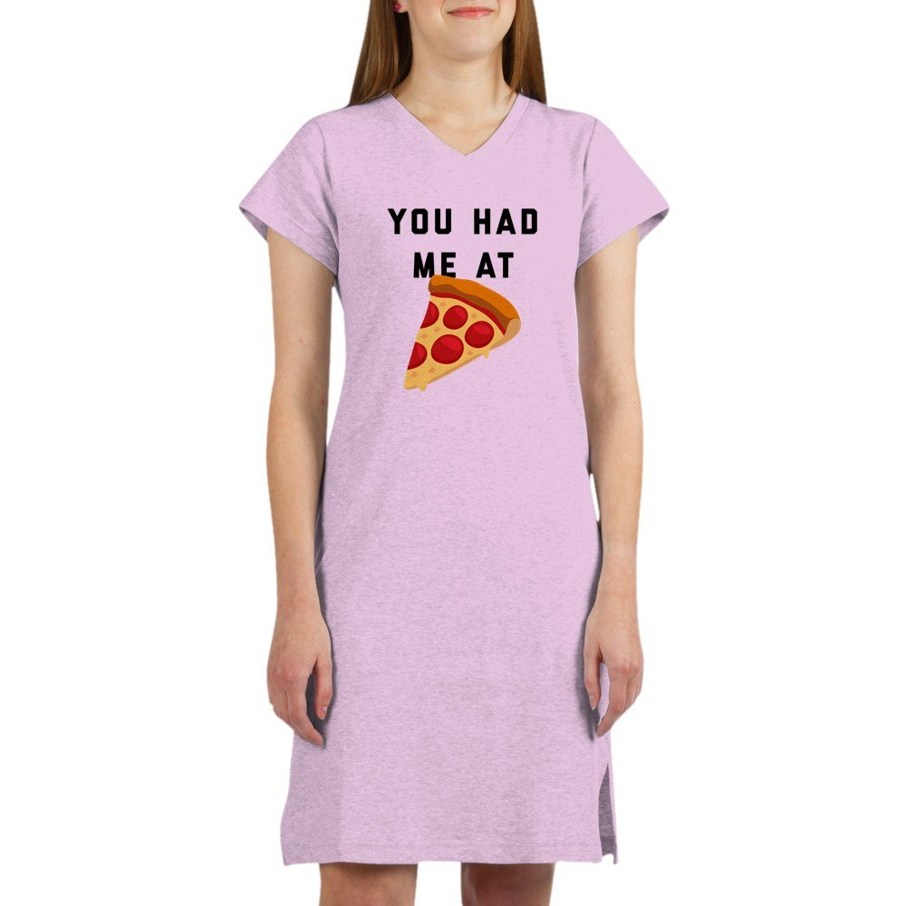 CafePress You Had Me at Pizza Emoji Nightshirt - cineric com