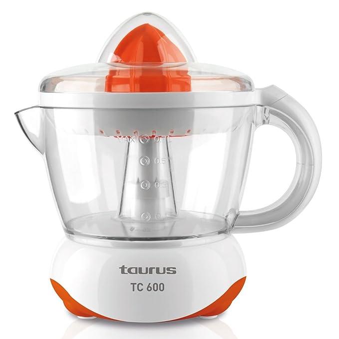 Taurus TC 600 Exprimidor 40 W 0.7 litros, 0 Decibeles, PU, Naranja, Blanco: Amazon.es: Hogar
