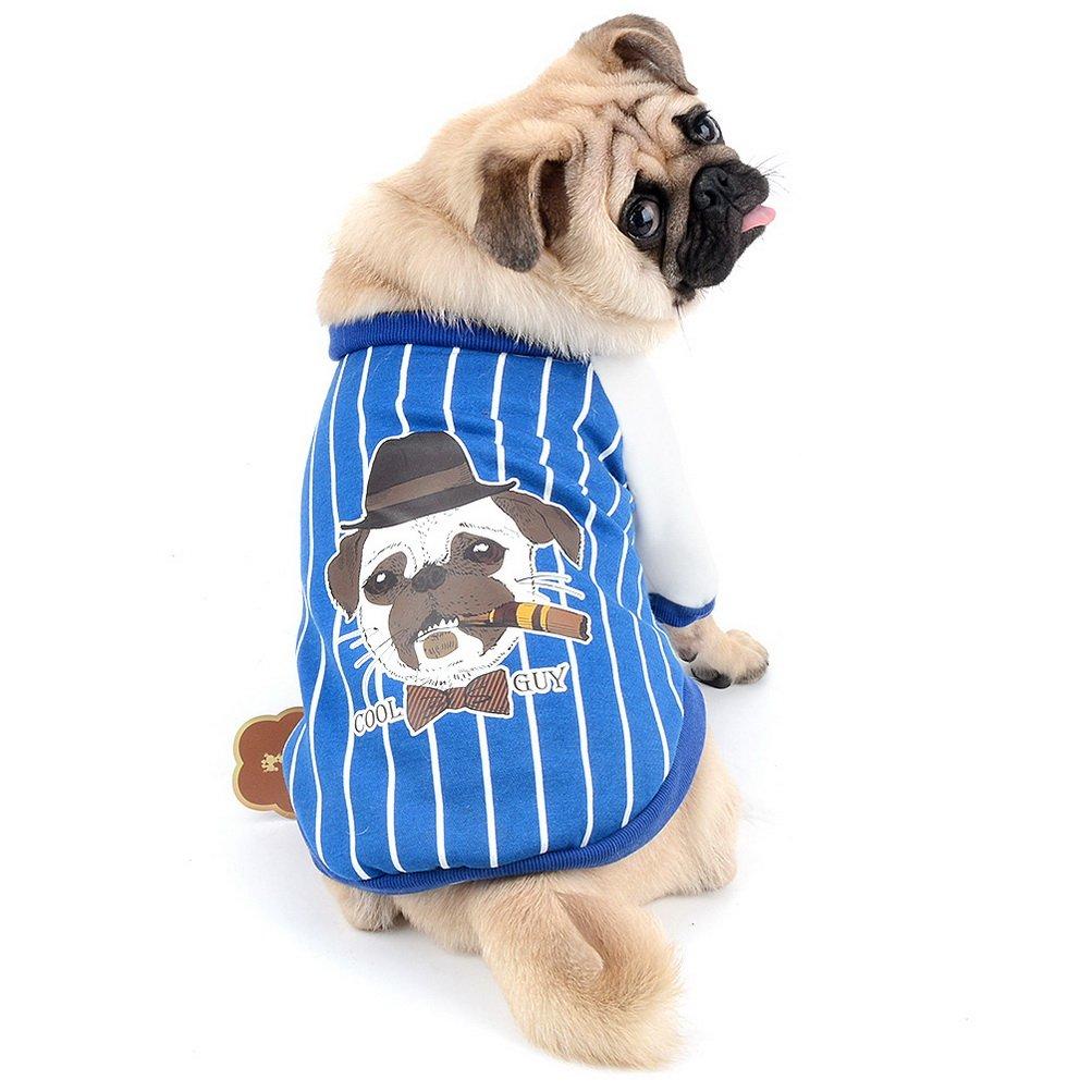 Zunea cane maglione cappotto a righe morbido inverno caldo felpe con Bulldog francese modello petto Protector Pet abbigliamento abbigliamento per Bulldogs Pitbulls Bull terrier Dogs