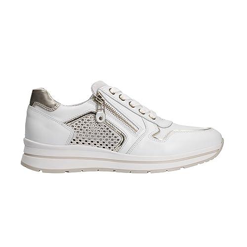NERO GIARDINI sneaker donna P805241D nr. 37 pelle bianco 5241 .