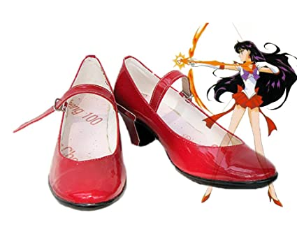 Sailor Moon Sailor Mars Rei Hino Cosplay Shoes Boots Custom Made 2