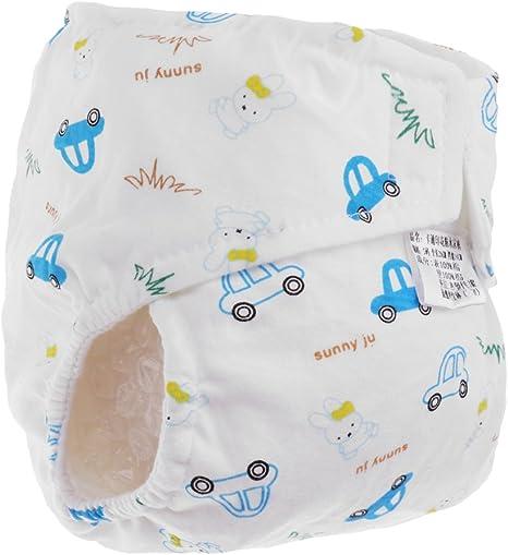 Pañales De Algodón Para Bebés Pañales Impresos - Coche, L: Amazon ...