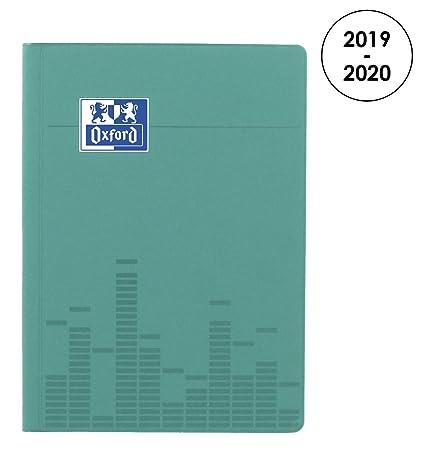 Oxford Touch agenda escolar (años 2017 – 2018 1 día por página 352 páginas 12 x 18 cm) azul