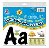 Pacon 4'' Self-Adhesive Uppercase and Lowercase Letters, 154-Count, Black (51693)