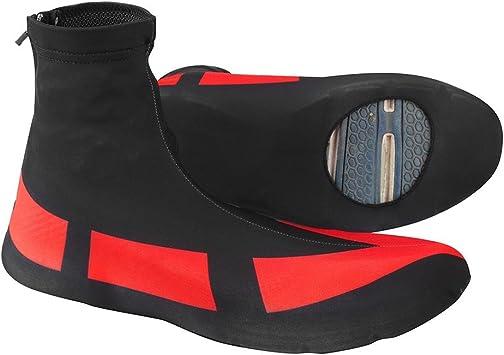 Alomejor Cubre Zapatos Rojo Impermeable a Prueba de Polvo Cubre Zapatillas con Cremallera Protector para Ciclismo en Bicicleta Deportes: Amazon.es: Deportes y aire libre