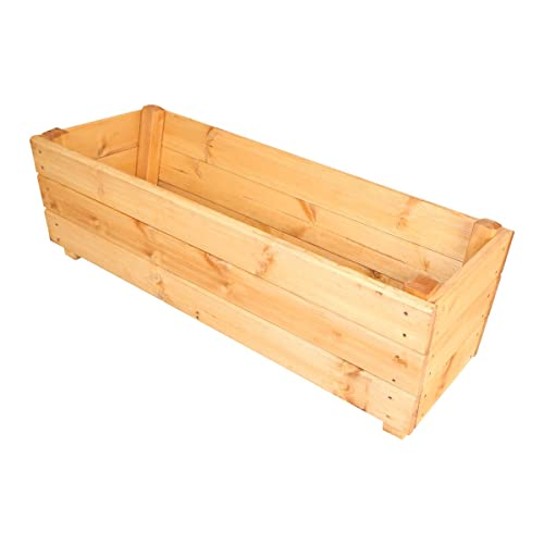 Large 1 Metre Wooden Garden Planter Box Trough Herb