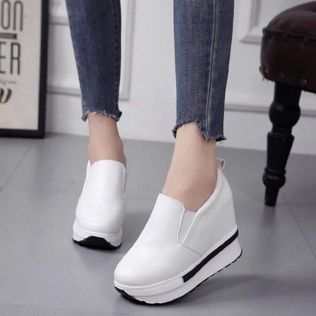Yaloee Yaloee Yaloee Botas del Tobillo de la Mujer Moda Flatform Color sólido Wild Round Toe Botas Cortas Ocasionales ae7ddc