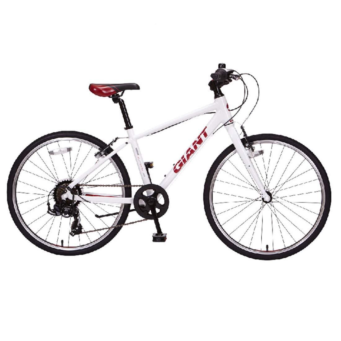 Citybike 24 Zoll 7-Gang Fahrrad Aluminiumlegierung Rahmen Für Erwachsene Mountainbike Weiß