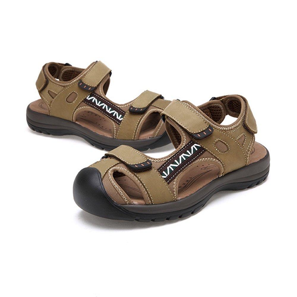 Wagsiyi Hausschuhe Sandalen Herren Outdoor Freizeitschuhe Schuhe LederSandale Collision Breath Grün Schuhe Freizeitschuhe (24.5-27.5) cm Strandschuhe Grün cf7eb1
