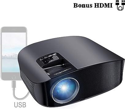 Proyector HD, BeamerKing LED Proyector Video Portátil 3500 ...