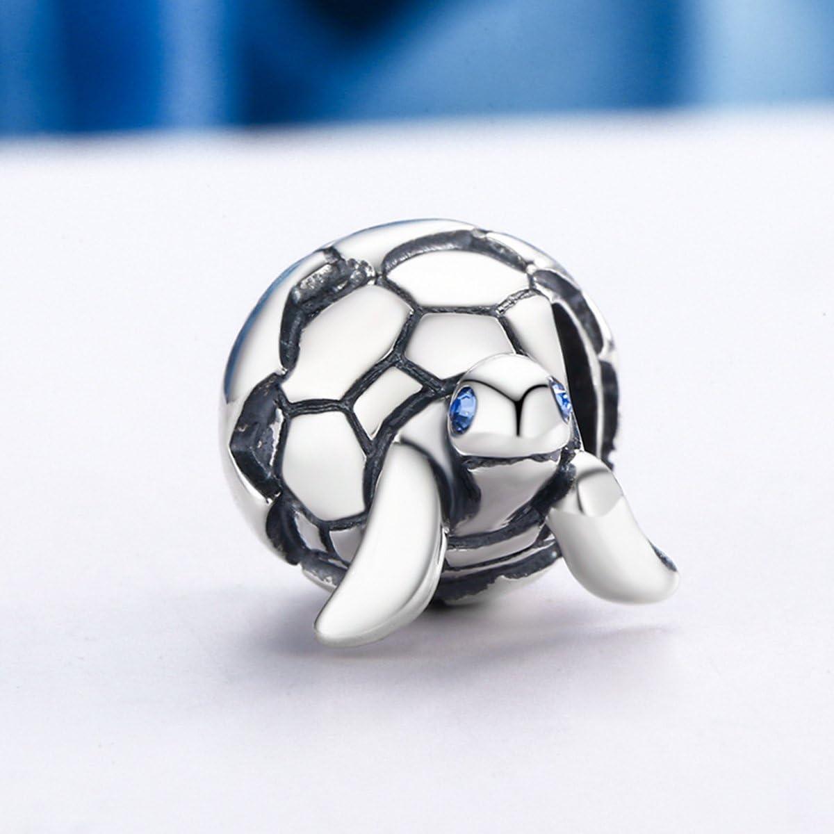 Turtle Charms Charm en argent sterling 925 avec zircone cubique pour bracelet et collier serpent