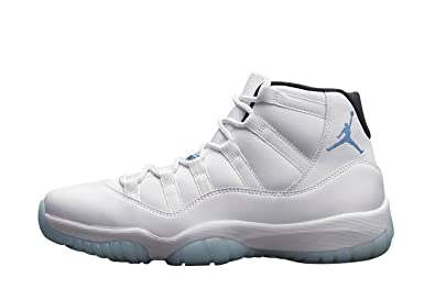 b1b07dcc091 Nike Men's Air Jordan 11 Retro Columbia Legend Blue White Leather Sneaker  10 D(M