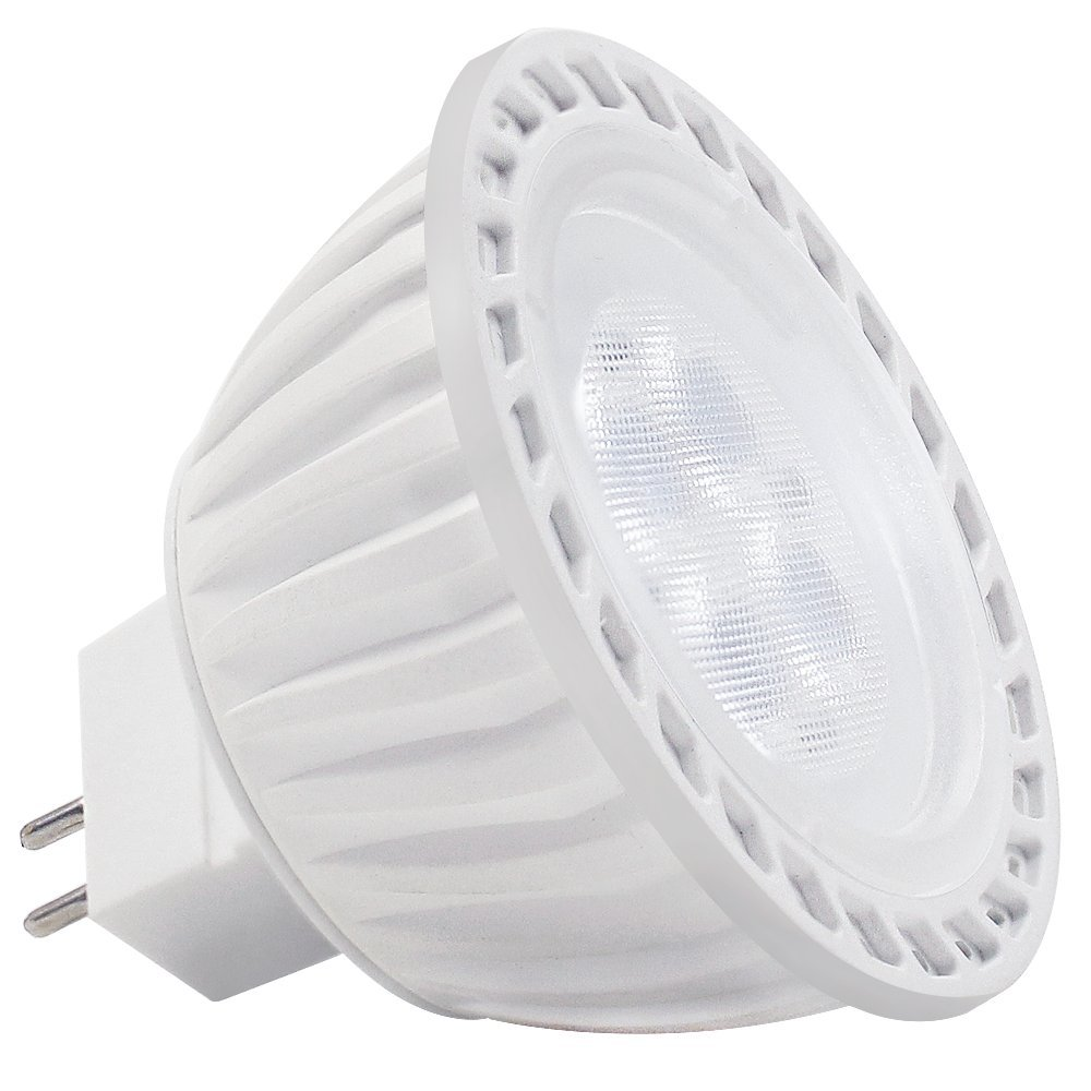 LED MR16 Bulb, 36° Spotlight with GU5.3 Bi-pin Base for Landscape, Track, Recessed, Accent Lighting, 5W (50W Equiv.), 5000K Daylight