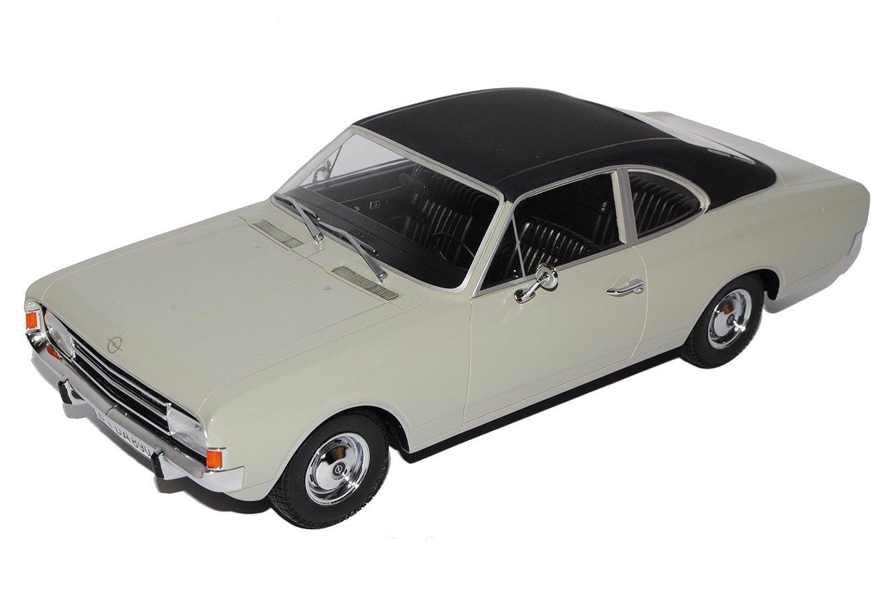 Minichamps Opel Rekord C 1900 Limousine Grau mit Schwarzem Dach 1966-1972 1/18 Modell Auto