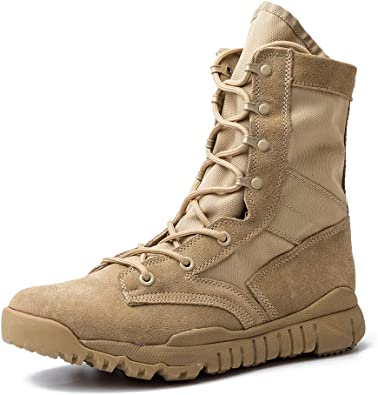Amazon.com: IODSON Lightweight Military Tactical Combat Boots for Men Army  Shoes: Shoes