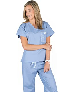 78f8c4331a6c66 Amazon.com  Blue Sky Scrubs Women s Shelby Scrub Top  Medical Scrubs ...