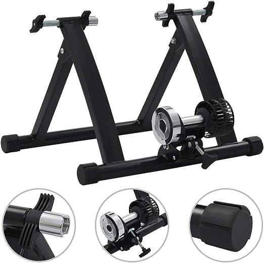 150 kg Rodillo Plegable con Resistencia al Aire para Bicicleta con Ruedas de 26-28 y 700C Carga Negra SOULONG Bicicleta Turbo Trainer Ruedas de Bicicleta para Interior