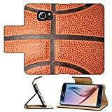 Luxlady Premium Samsung Galaxy S6 Edge Flip Pu Leather Wallet Case IMAGE ID 2114666 close up photo of a basketball that can be as a background design element