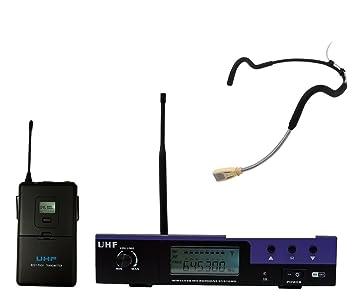 UHF impermeable resistente al sudor Fitness Auriculares inalámbricos con micrófono para entrenador