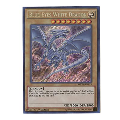 Blue-Eyes White Dragon - MVP1-ENS55 - Secret Rare - 1st Edition: Toys & Games