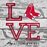 Prints Charming MLB Boston Sox Womens Love Soxlove Sox Plaque, Red, 10x10