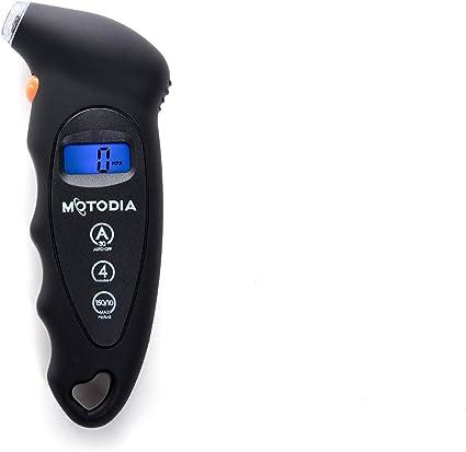 MotoDia MD1 - manómetro digital para neumáticos con pantalla LCD ...