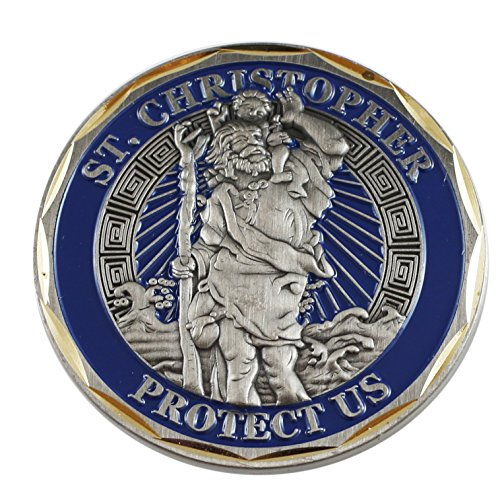 St. Christopher Protect Us Challenge/Prayer Coin (Value Pack) (1 pack)