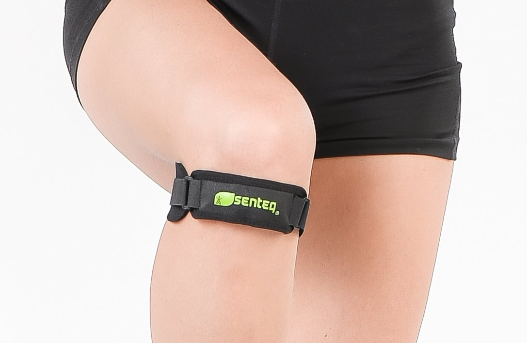 SENTEQ Knee Strap Support Brace - Medical Grade and FDA Approved. Adjustable Patella Knee Support to Prevent Pain and Tendinitis (2 piece) by SENTEQ (Image #1)