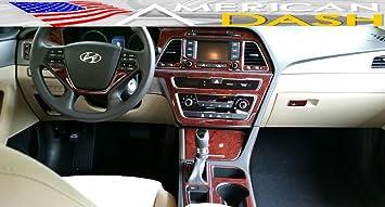 hyundai sonata 2015 interior. hyundai sonata interior burl wood dash trim kit set 2015 2016 2017 hyundai sonata interior