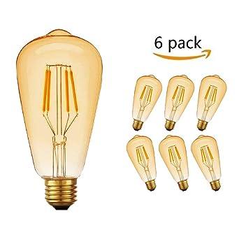 E27 Led Paquets Lampe EdisonMassway 6 Antique Décorative4w2700k Ampoule Blanc Chaud Rétro mNnw80