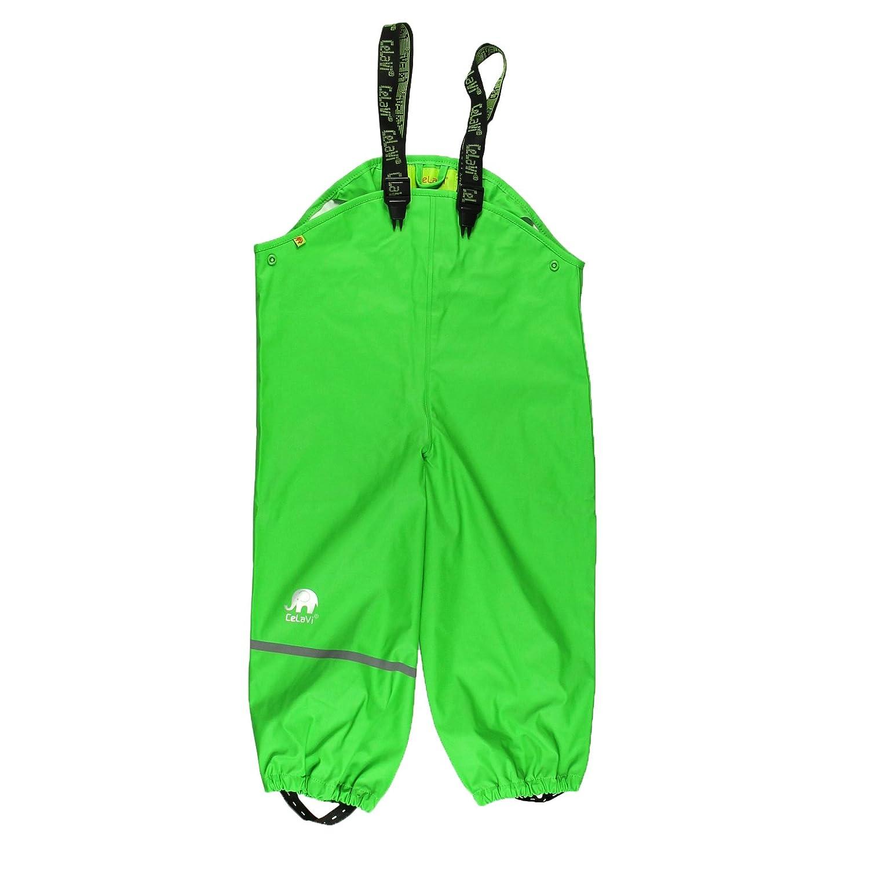 Celavi Kinder Unisex Regen-Latzhose, Alter 9-10 Jahre, Größe: 140, Farbe: Grün, 1155 Größe: 140 Farbe: Grün