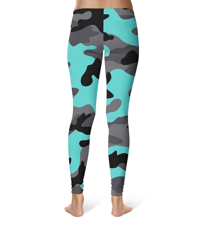 Queen of Cases Dark Camouflage Sport Leggings Mid//High Waist Full Length