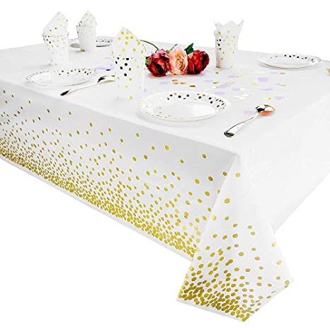 Plastic Disposable Table Cloth Cover For Wedding Birthday Christmas Partt RE