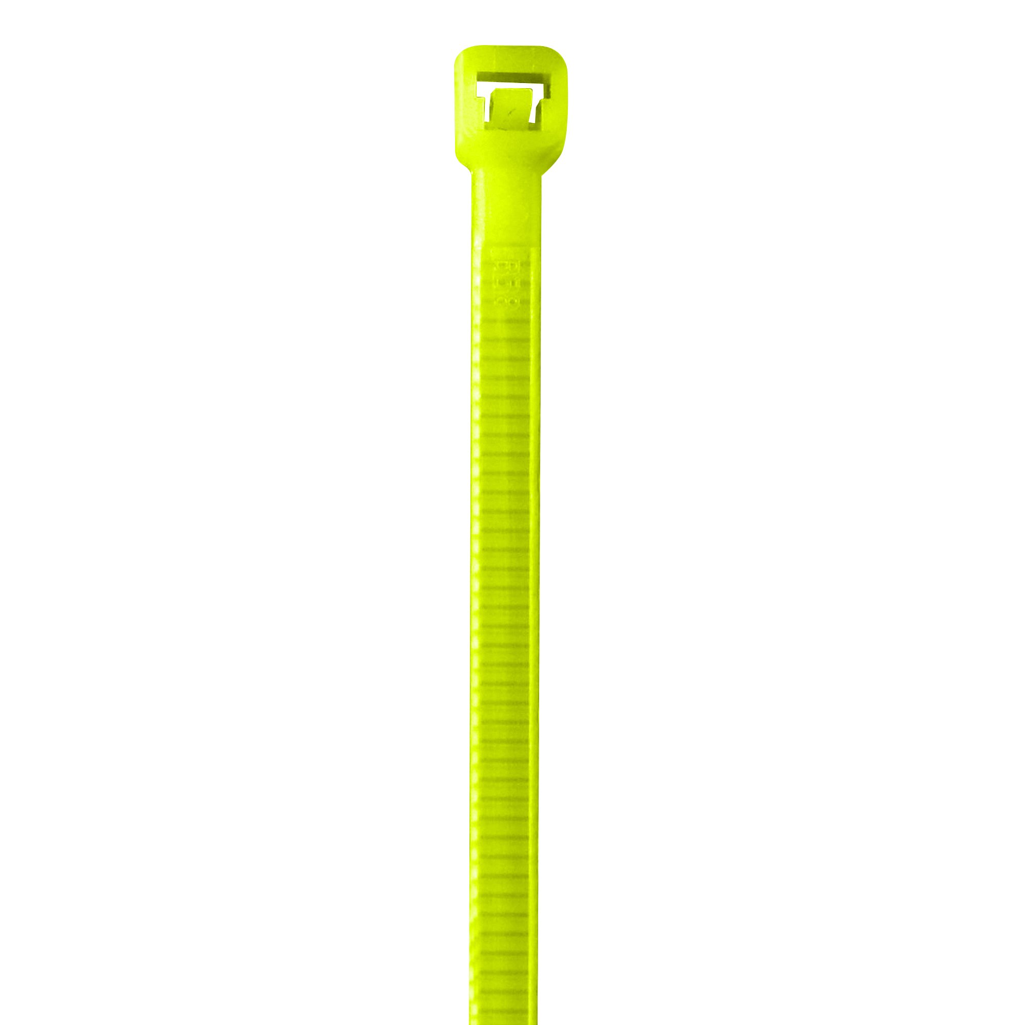BOX USA BCT444J Colored Cable Ties, 40#, 8'', Fluorescent Yellow (Pack of 1000)