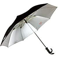KC Paul & Sons 2 Fold Raj Polyster Black Umbrella