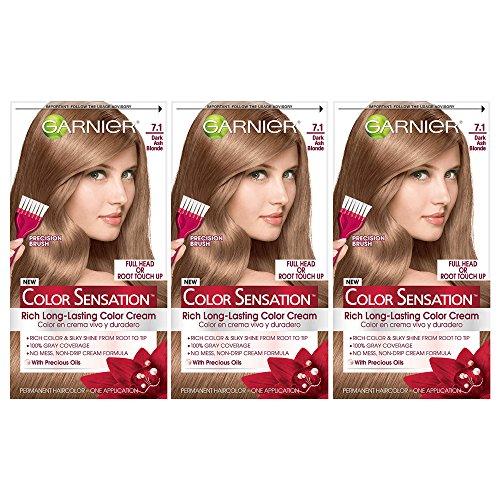 Garnier Color Sensation Hair Color Cream, 7.1 Dark Ash Bl...