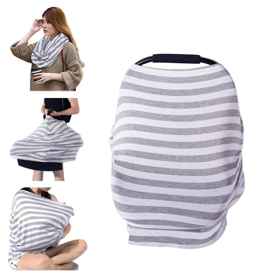 PPOGOO Baby Stilltuch l/ässig Stillcape Multifunktion Halst/ücher zum Stillen Stillen Abdeckung Baby Autositz Cover