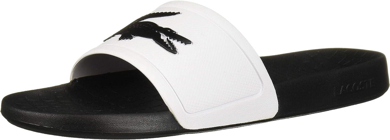 Lacoste Women's FRAISIER Sandal, Black/White,