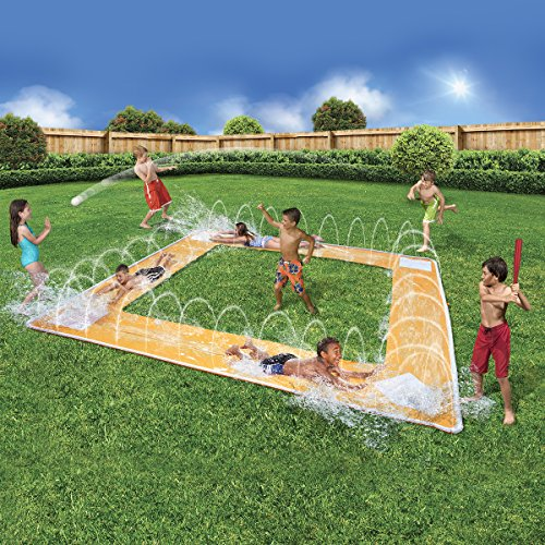 (BANZAI Spring and Summer Toys Grand Slam Baseball Water Slide )