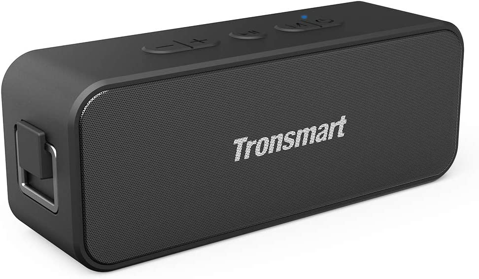 Tronsmart T2 Plus Altavoz Bluetooth 20W, Altavoz Portátil Impermeable IPX7, 24 Horas de Reproducción, Sonido Estéreo TWS, Bluetooth 5.0, Asistente de Voz y Manos Libres para Hogar, Playa, Viajes