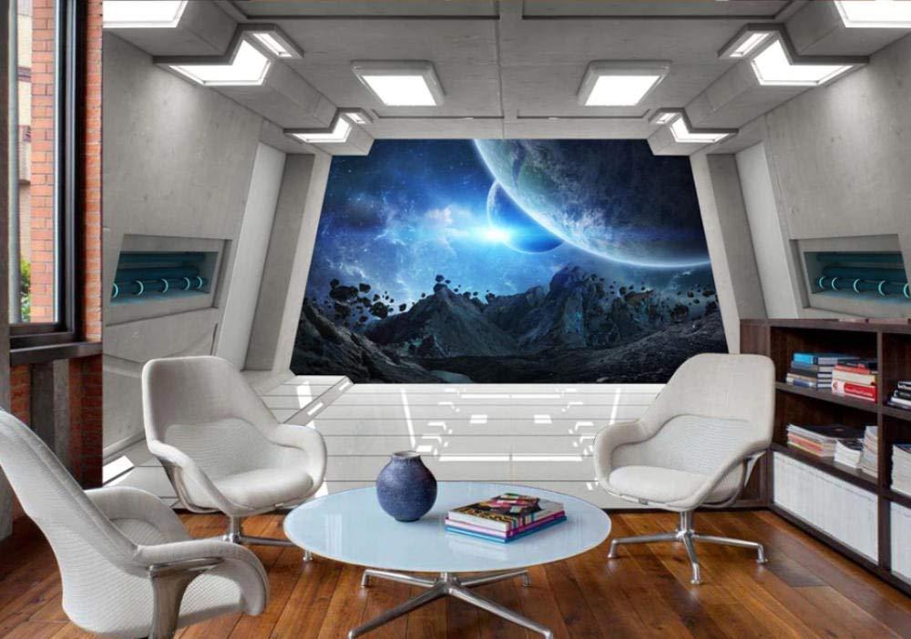 Cowallpaper Fondo De Pantalla 3D Nave Espacial Escotilla Barra Ktv Fondo Pared Decoraci/ón Del Hogar Sala De Estar Dormitorio Poster Picture Landscape-C-250Cmx175Cm