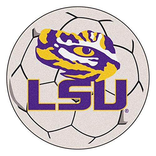(NCAA Louisiana State University Tigers Soccer Ball Mat Round Area Rug)